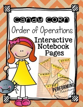 Halloween Math Freebie Order of Operations Interactive Notebook