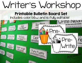 Writer's Workshop Bulletin Board Print, Laminate, and Done!