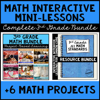 The ULTIMATE 3rd Grade Common Core Math Bundle - Interactive Notebooks + PBL