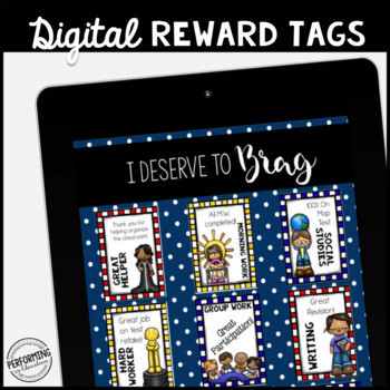 Classroom Management DIGITAL Reward Tags: No more cutting or laminating!