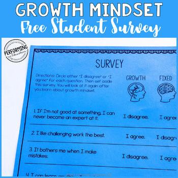 Growth Mindset Free Student Survey
