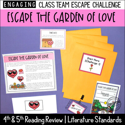 Valentine's Day Reading Escape Game | Literature Standard Review