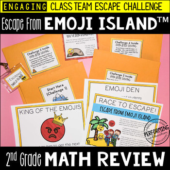 2nd Grade Math Test Prep Escape Room Game | End of Year Review