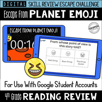 4th Grade Reading Review Game | Digital Escape Room | Google Distance Learning