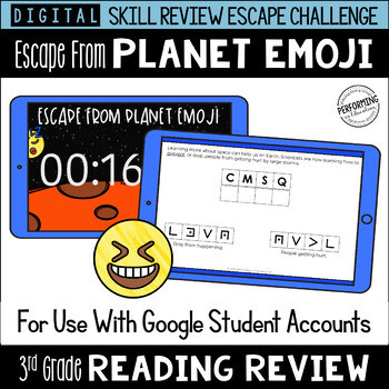 3rd Grade Reading Review Game | Digital Escape Room | Google Distance Learning