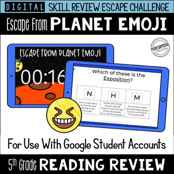 5th Grade Reading Review Game | Digital Escape Room | Google Distance Learning