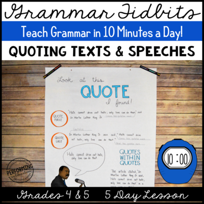 Quoting Texts and Speeches