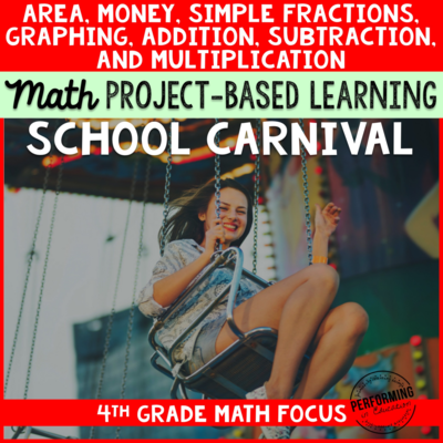 Project Based Learning for 4th Grade Math: School Carnival