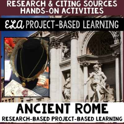 Grades 4-6: Ancient Rome Inquiry Project With Lapbook and Research Report