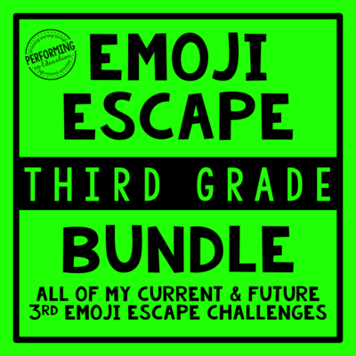 3rd Grade Emoji Escape ELA & Math Bundle