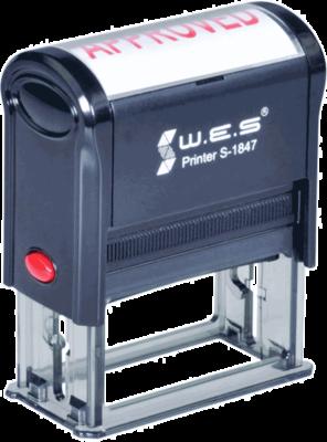 Штамп автоматический W.E.S. S-1847 47x18 мм