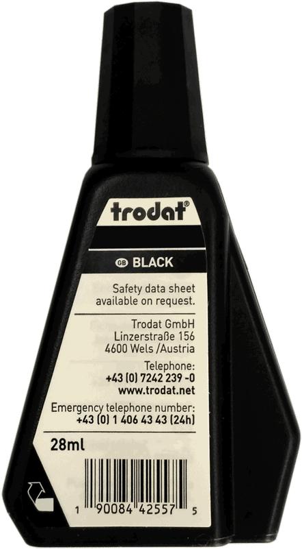 Штемпельная краска Trodat для ткани. Цвет черный