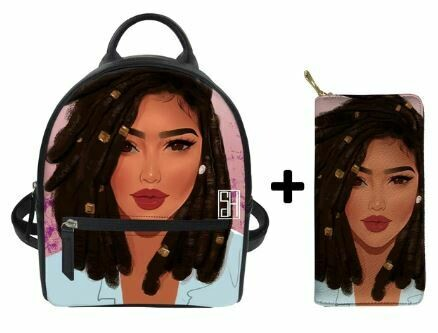 Fashion BlackPack & Wallet  (Design 19)