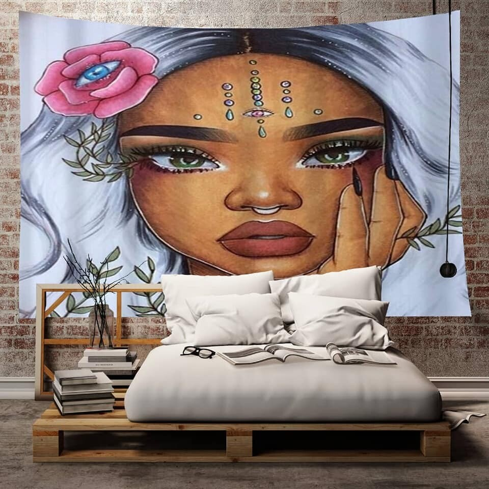 Afrocentric Wall Tapestry (Design #45)