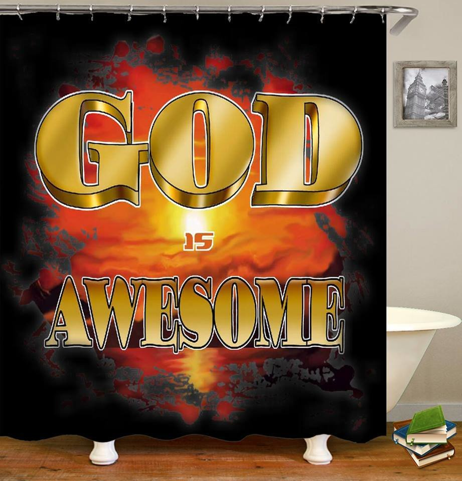 2-Piece Shower Set (God is Awesome)
