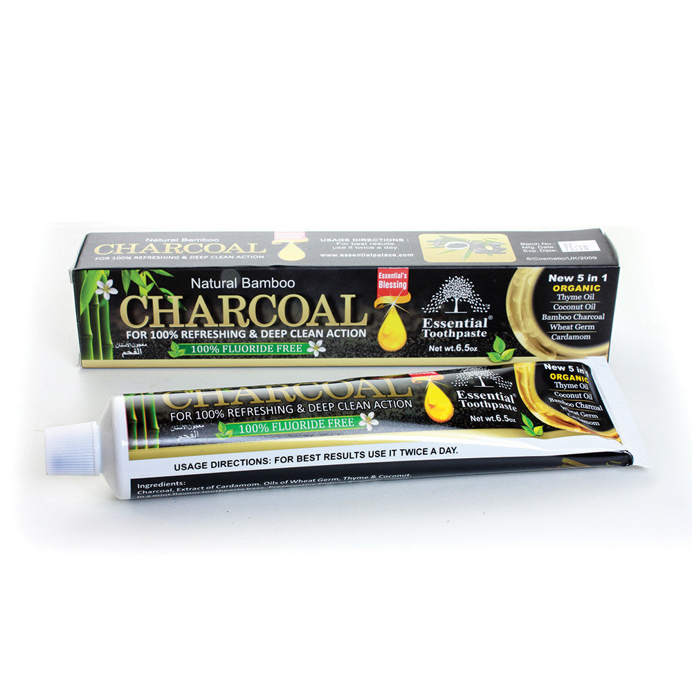 Natural Bamboo Activated Charcoal Toothpaste (5-n-1)