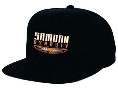 Samoan Dynasty Snapback Cap in Black