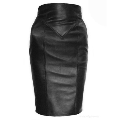 Skirt Leather Pencil