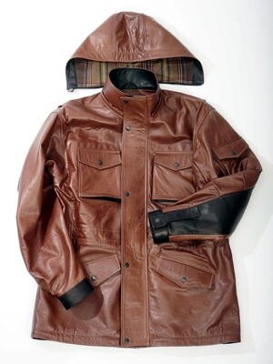 Sewing leather winter jackets examples of work