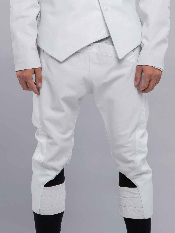 White Genuine Leather Breeches