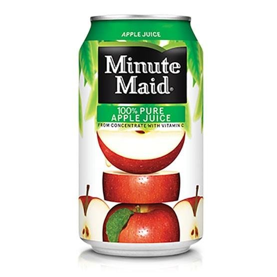 Minute Maid Apple Juice Can