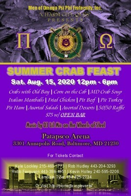 Pi Omega Crab Feast (Individual tickets)