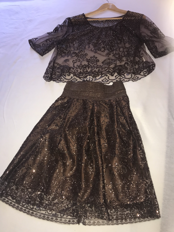 Crop Top & Skirt