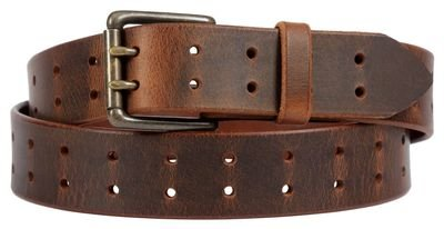 Double Prong Belt, Distressed Brown
