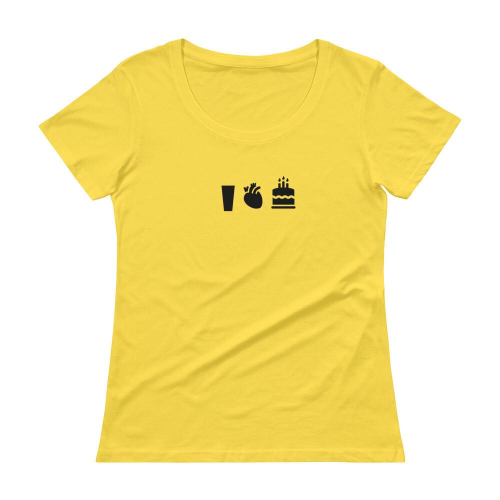 """I heart Cake"" Ladies' Scoopneck T-Shirt"