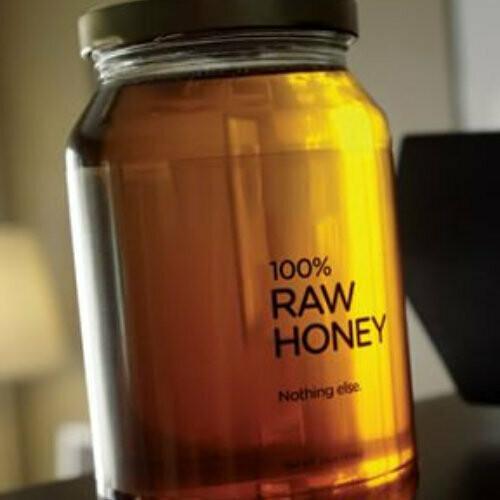 Honey - 500ml Raw, local, unheated, glass bottle