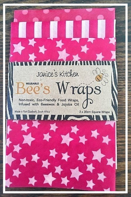 Bee's Wax Wraps 3 Pack- Pink