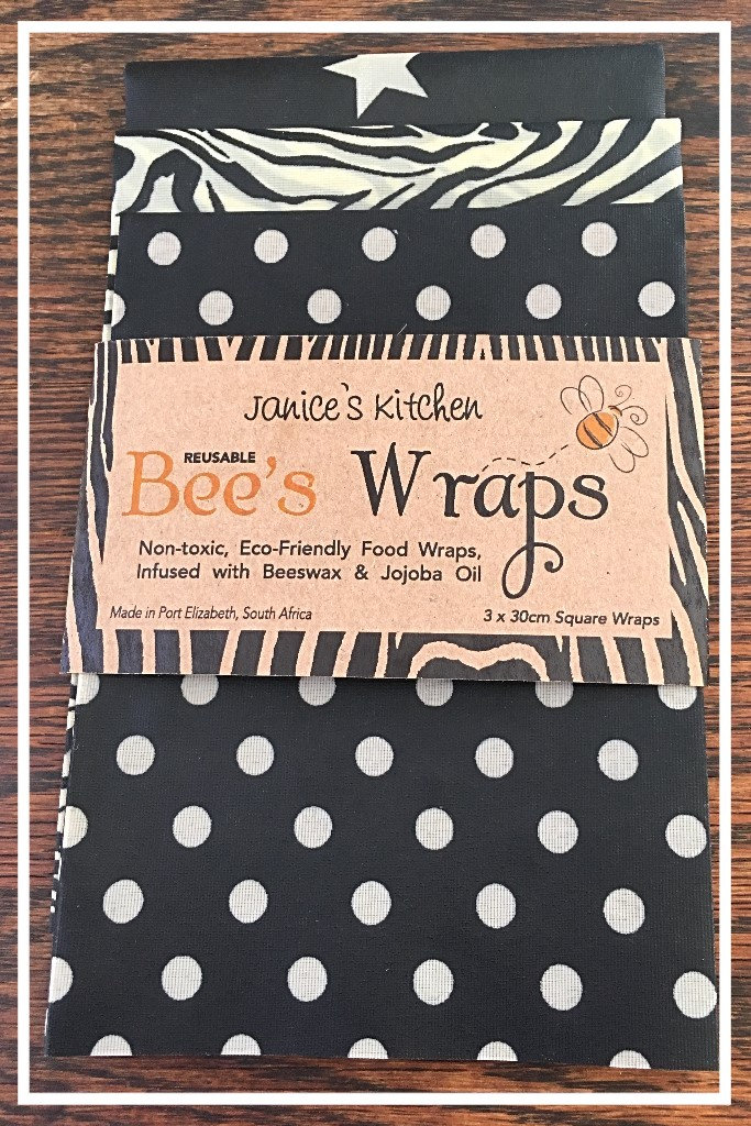 Bee's Wax Wraps 3 Pack- Black