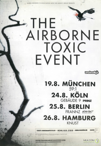August 2009 German Tour Poster