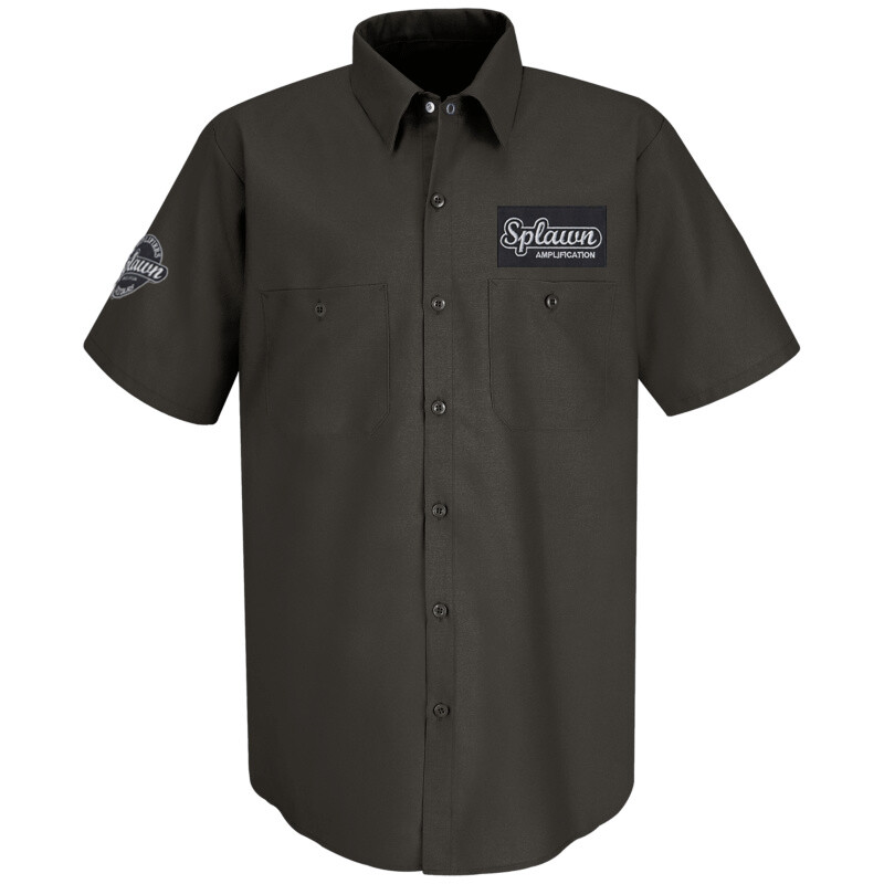 Splawn Amplification Two Logo RED KAP Work Shirt