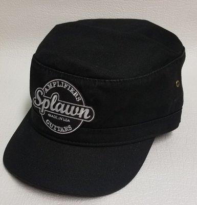 Splawn Amplification Guitars Military Cadet Cap Black