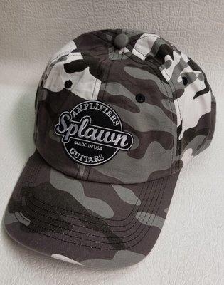 Splawn Amplification Guitars Center Logo Port Authority Cap Winter Camo