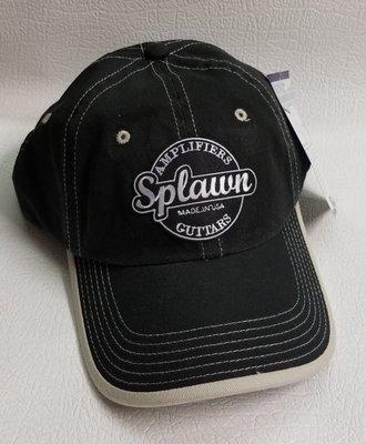 Splawn Amplification Guitars Center Logo Port Authority Cap Vintage Contrast Stitch Black