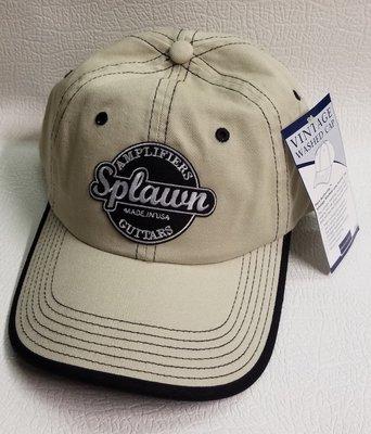 Splawn Amplification Guitars Center Logo Port Authority Cap Vintage Contrast Stitch Stone