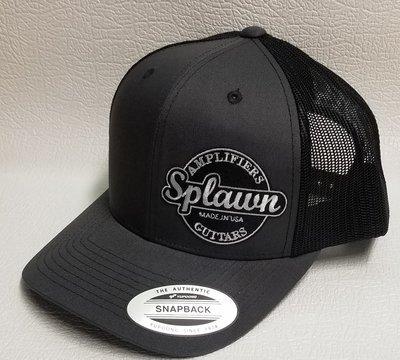 Splawn Amplification Guitars Trucker CapSnapback Charcoal with Black Mesh