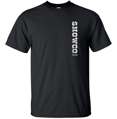 SHOWCO SOUND Lynyrd Skynyrd Vertical White Distress Logo T-shirt Gildan