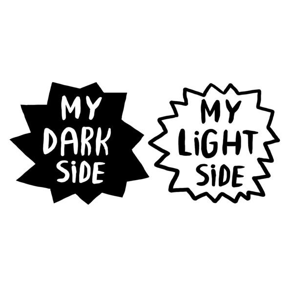 Временное тату My dark side (2 штуки в наборе)