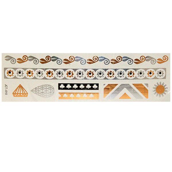 Временные флеш-тату  вариант 20 (лист 19х6 см)