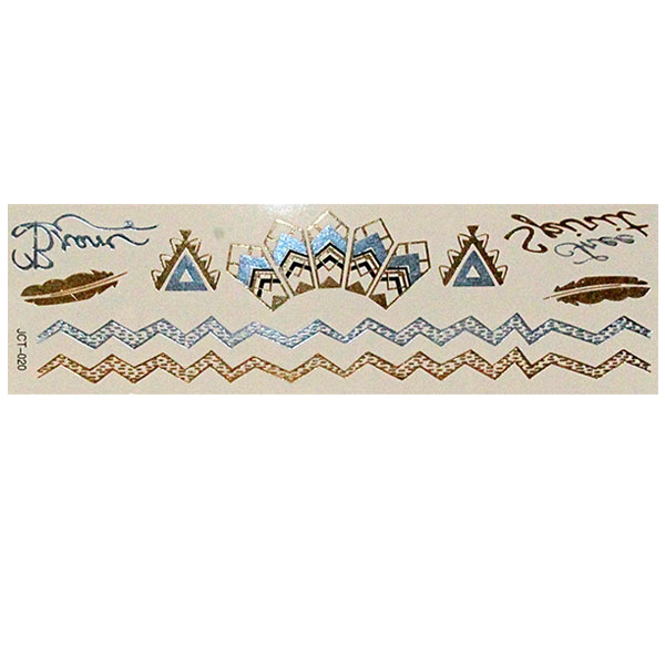 Временные флеш-тату  вариант 30 (лист 19х6 см)