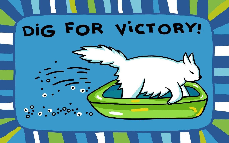 Коврик Dig for victory голубой