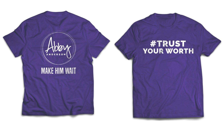 Make Him Wait Purple T