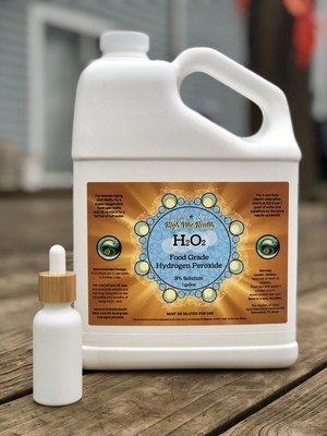 1 gallon 35% Diluted to 8% Food Grade Hydrogen Peroxide for International Shipping