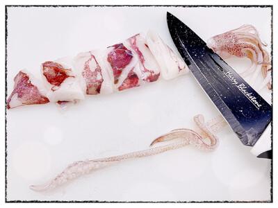 Pan Royal Loligo Squid - Cut