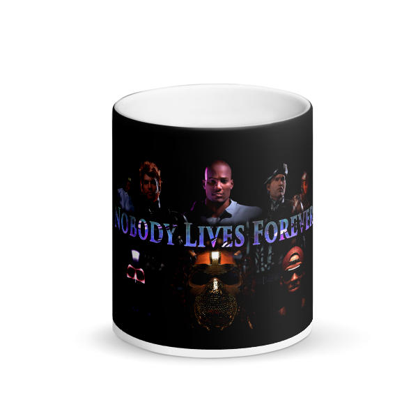Nobody Lives Forever Matte Black Magic Mug