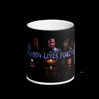 Nobody Lives Forever Matte Black Magic Mug