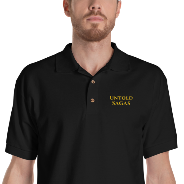 Untold Sagas Embroidered Polo Shirt